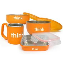 Picture of ThinkBaby The Complete BPA Free Feeding Set  (Orange)