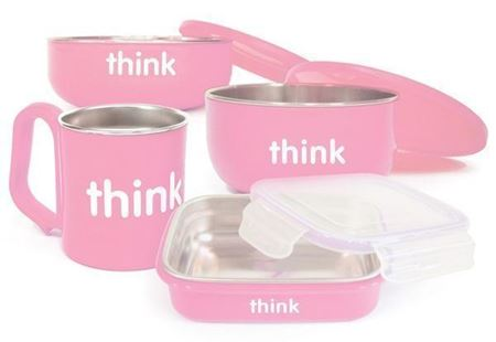 Picture of ThinkBaby The Complete BPA Free Feeding Set (Pink)