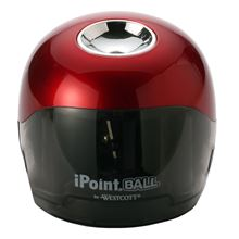 Picture of Westcott iPoint Ball Battery-Powered Pencil Sharpener, Red