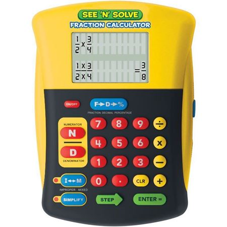Picture of See 'n' Solve Fraction Calculator