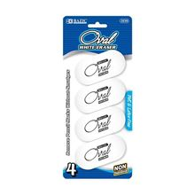 Picture of BAZIC White Oval Eraser (4/Pack)